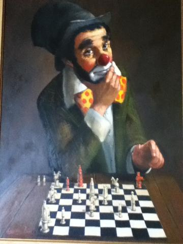 leighton-jones clown playing chess_0