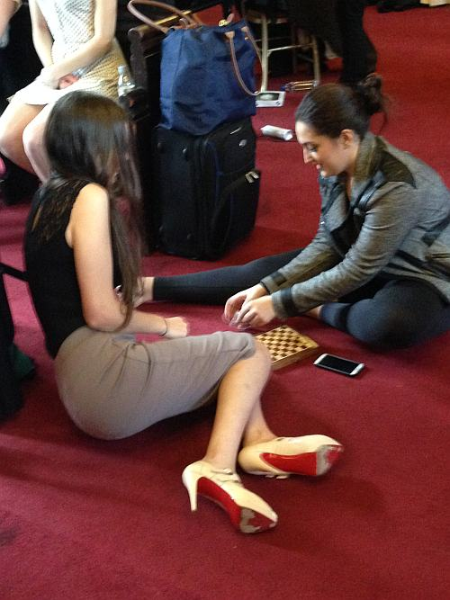 Debutantes-chilling-...playing-chess